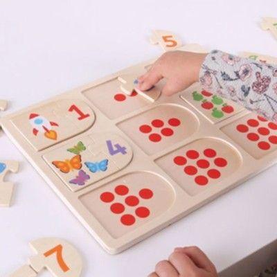 Puzzle - Zählen lernen - 1 bis 9 - Bigjigs