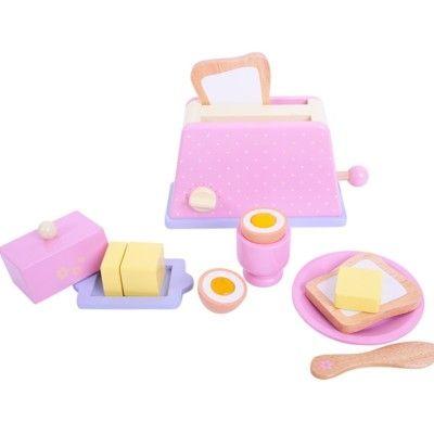 Kaufladen - Frühstücksset - Rosa - Bigjigs