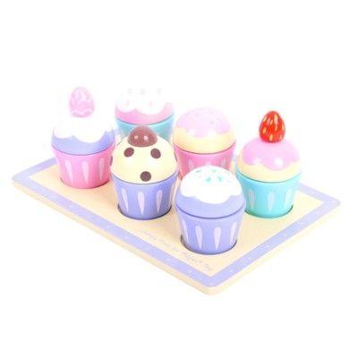 Kaufladen - Kuchenteller mit sechs Muffins - Bigjigs