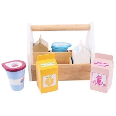 Kaufladen - Milchprodukte aus Holz - Bigjigs