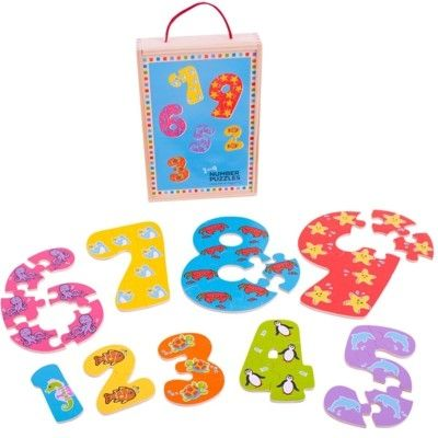 Puzzle - Die Zahlen 1-9 puzzeln - Bigjigs