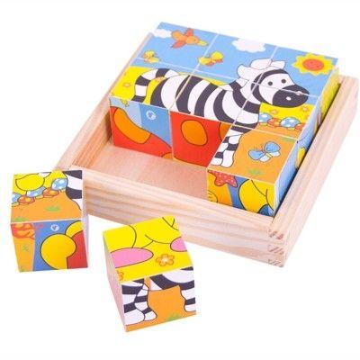 Würfelpuzzle - Safaritiere - Bigjigs