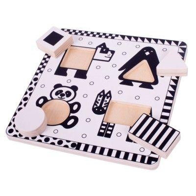 Puzzle - Geometrie - Tiere - 4 Teile - Bigjigs