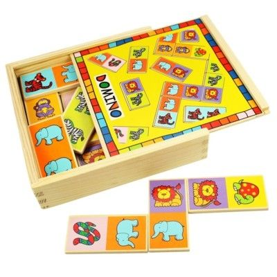 Spiel - Domino aus Holz - Tiere - Bigjigs