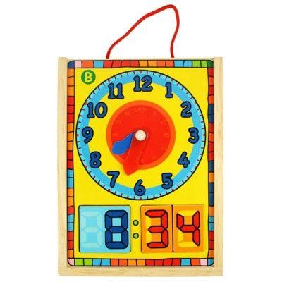 Puzzle - Die Uhr lernen - Analog und digital - Bigjigs