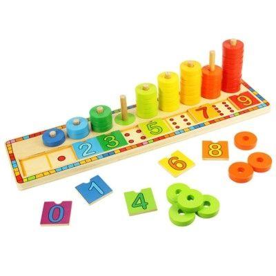 Puzzle - Lerne Zählen mit Ringen - Bigjigs