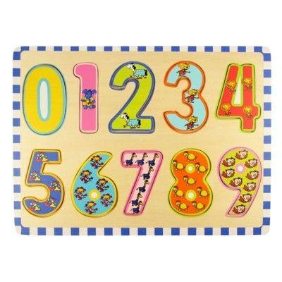 Puzzle - Zählen lernen - 0 bis 9 - Bigjigs
