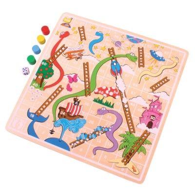 Spiel - Schlangen und Leitern - Bigjigs