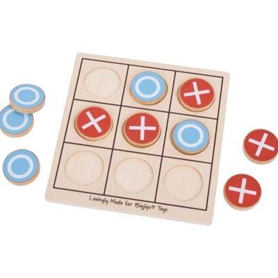 Drei gewinnt - Blau & rot - Bigjigs