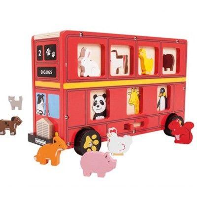 Steckkasten - Londonbus mit Tieren