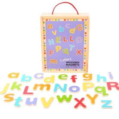 Magnetbuchstaben aus Holz - Große & kleine - Bigjigs