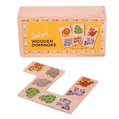 Spiel - Domino aus Holz - Safaritiere - Bigjigs