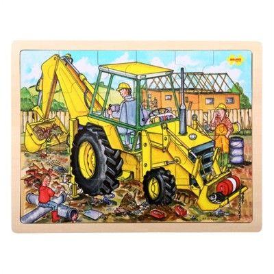 Puzzle - Bagger - 24 Teile - Bigjigs