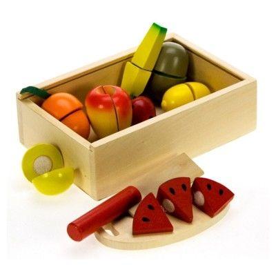 Kaufladen - Teilbares Obst in Kasten