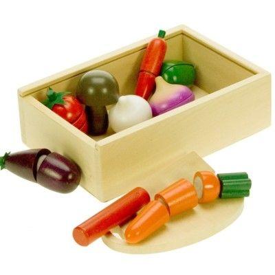 Kaufladen - Teilbares Gemüse in Kasten