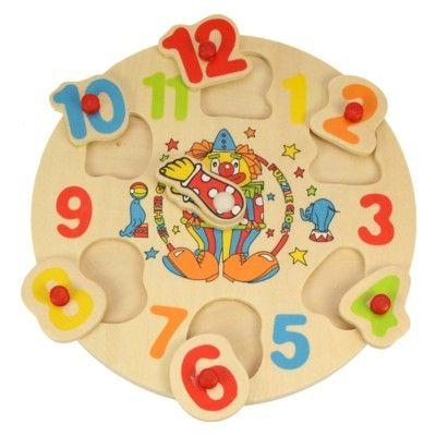 Puzzle - Die Uhr lernen - Clown - Bigjigs