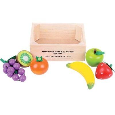 Kaufladen - Obst in Kasten