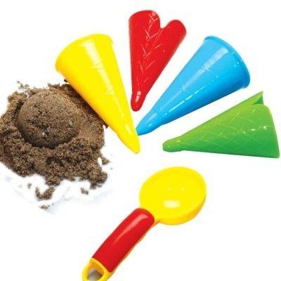 Sandspielzeug - Eislöffel und 4 Eistüten