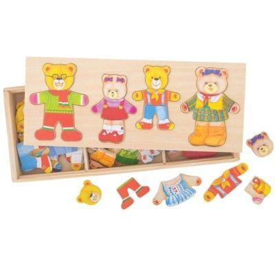 Anzieh-Puzzle - Die Familie Bär - Bigjigs