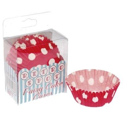 Muffinformen - Rote mit weißen Punkten - 75 St.