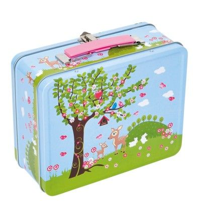 Lunchbox aus Metall - Waldtiere