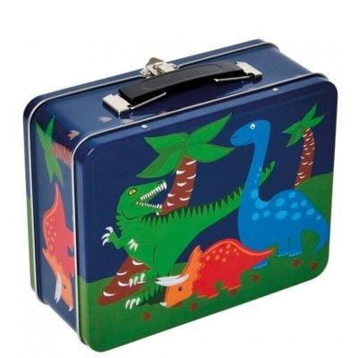Lunchbox aus Metall - Dinosaurier
