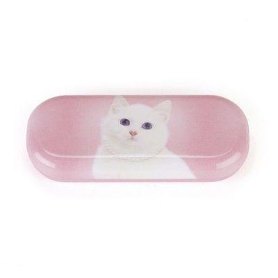 Brillenetui - Weiße Katze