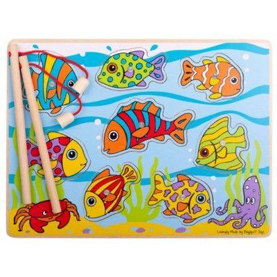 Angelspiel aus Holz - Tropische Fische - Bigjigs